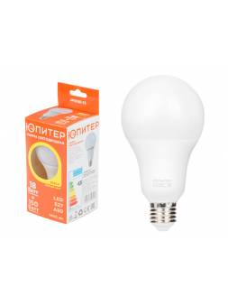 Лампа светодиодная A80 СТАНДАРТ 18 Вт 170-240В E27 3000К ЮПИТЕР (150 Вт аналог лампы накал., 1400Лм, теплый белый свет)
